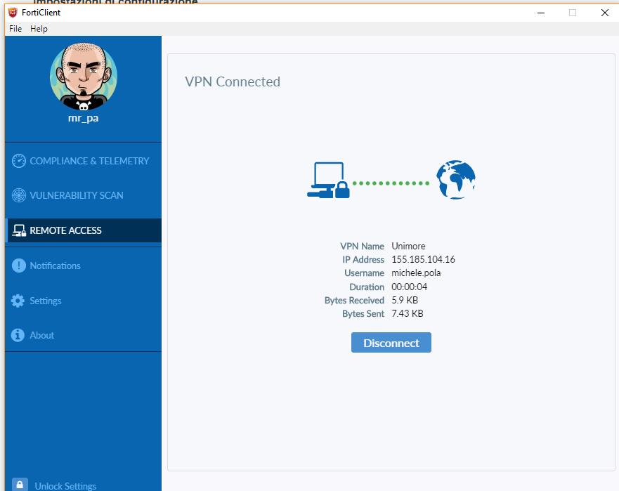 SBA UNIMORE - Condizioni di accesso e VPN